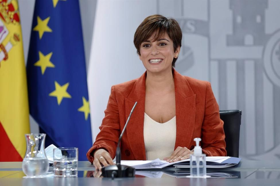 La portavoz del Gobierno y ministra de Política Territorial, Isabel Rodríguez