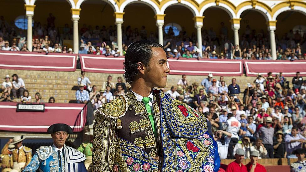 José Ruiz Muñoz el día de su primer paseíllo en la Real Maestranza de Sevilla