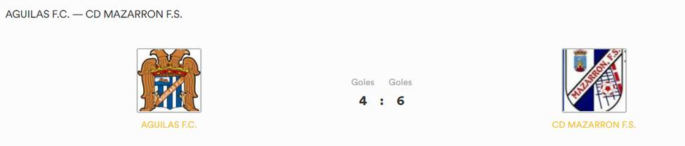 Mazarrón FS gana a Águilas FS (4-6)