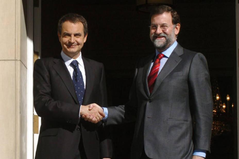 Rajoy y Zapatero.