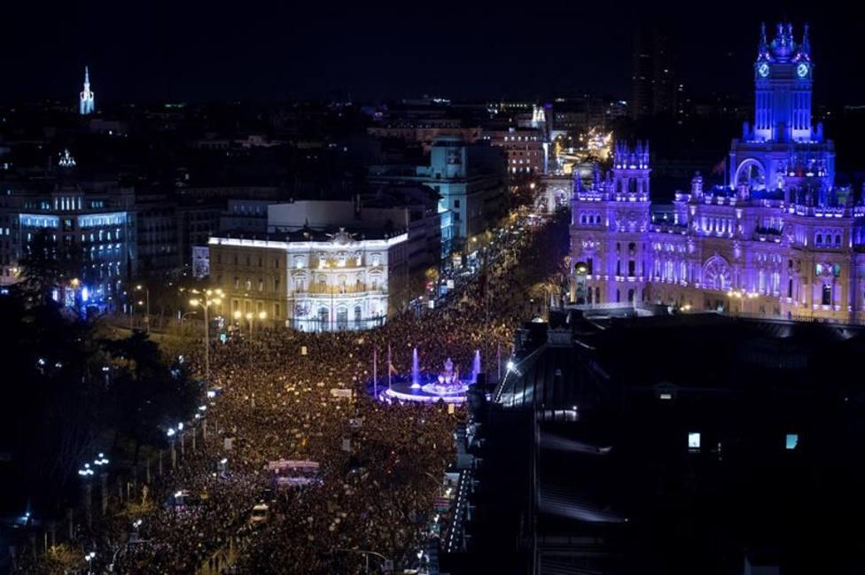 La Policía cifra en 350.000 los asistentes a la manifestación feminista en Madrid