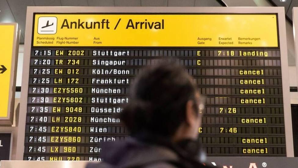 Caos en el aeropuerto de Múnich provocado por un joven español