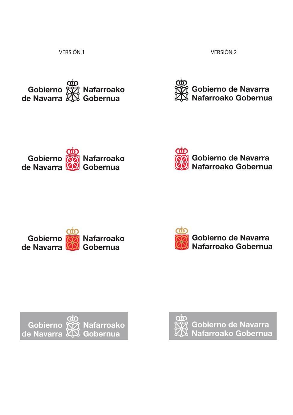 El Gobierno de Navarra modifica su símbolo oficial para que el castellano aparezca antes que el euskera