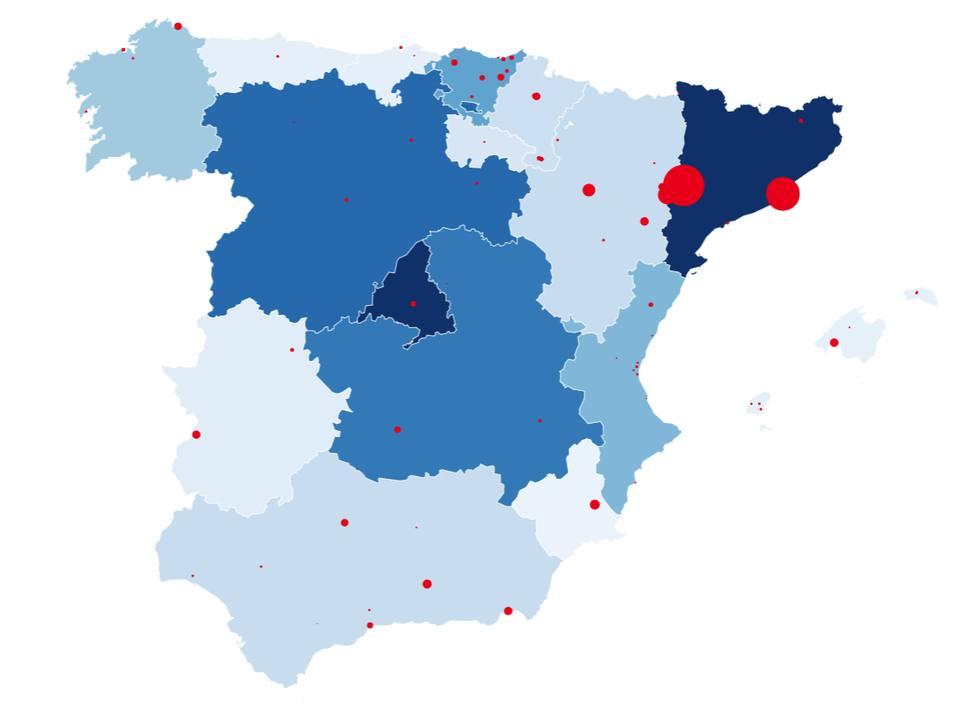 Mapa de rebrotes en España: Alemania se une a Reino Unido, y recomienda no viajar a Cataluña, Navarra y Aragón