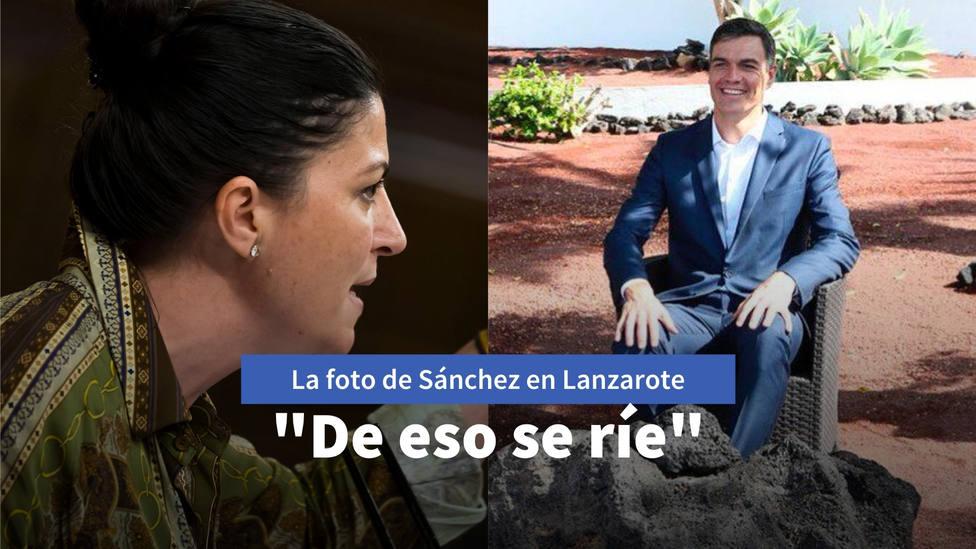 La verdad tras la imagen de Sánchez riendo en Lanzarote que ha compartido Macarena Olona