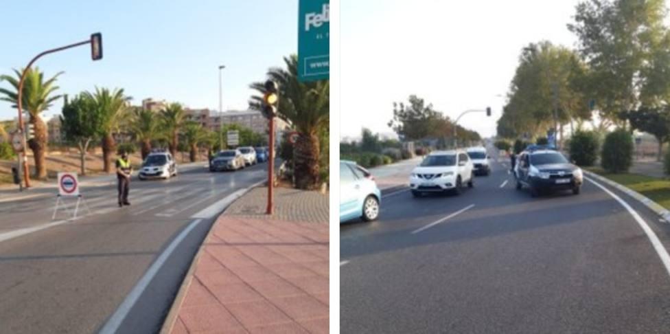 Policía Local establece puntos de control en la entrada y salida de Lorca