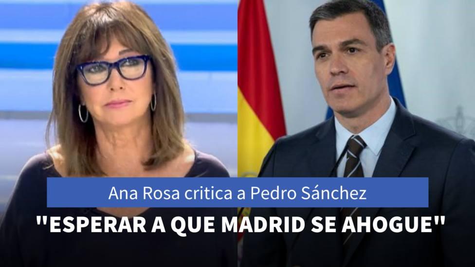 Ana Rosa Quintana y Pedro Sánchez
