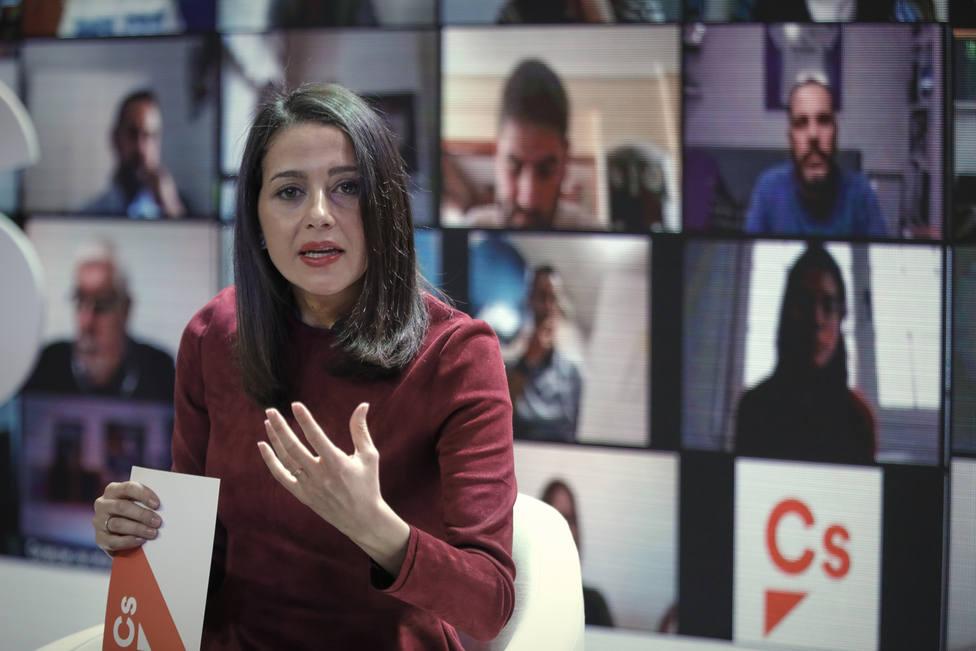 Encuentro telemático de Inés Arrimadas con afiliados de Ciudadanos