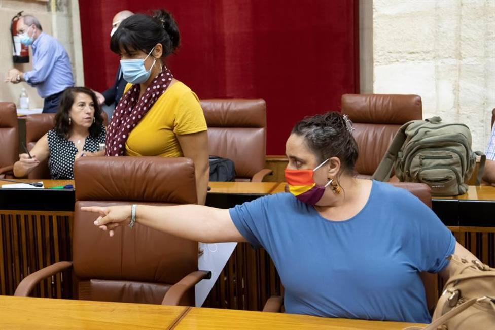 Imagen de archivo de Teresa Rodríguez en el Parlamento Andaluz como cabeza de Adelante Andalucía