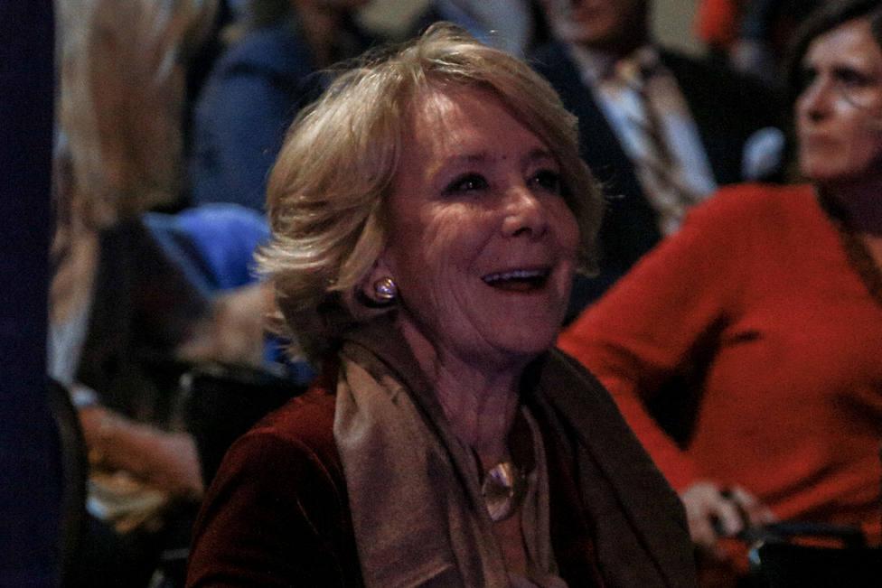 Esperanza Aguirre denuncia que Sánchez quiere acabar con la libertad en Madrid