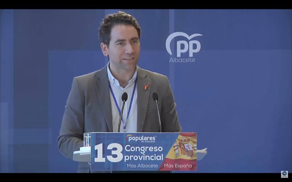 Teodoro García Egea, en la clausura del Congreso provincial del PP