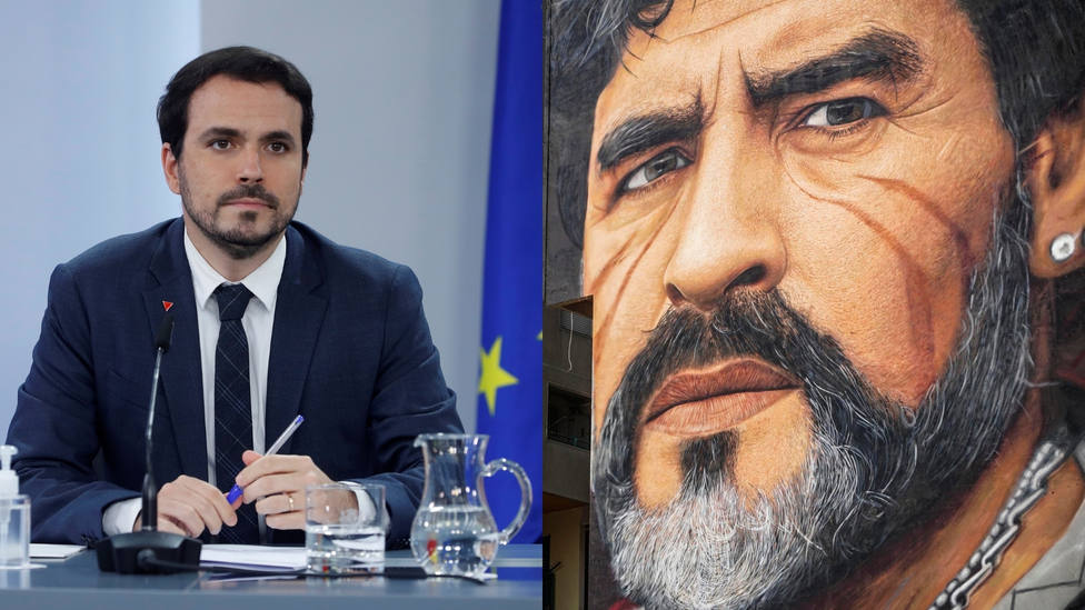 El peculiar homenaje de Izquierda Unida a Maradona: rectificación y comparación política