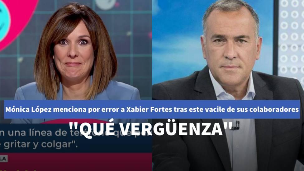 Mónica López menciona por error a Xabier Fortes tras este vacile de sus colaboradores: Qué vergüenza