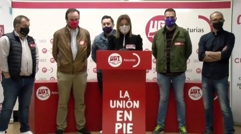 Foto Sindicatos UGT y CCOO (Movilización 22 de abril)