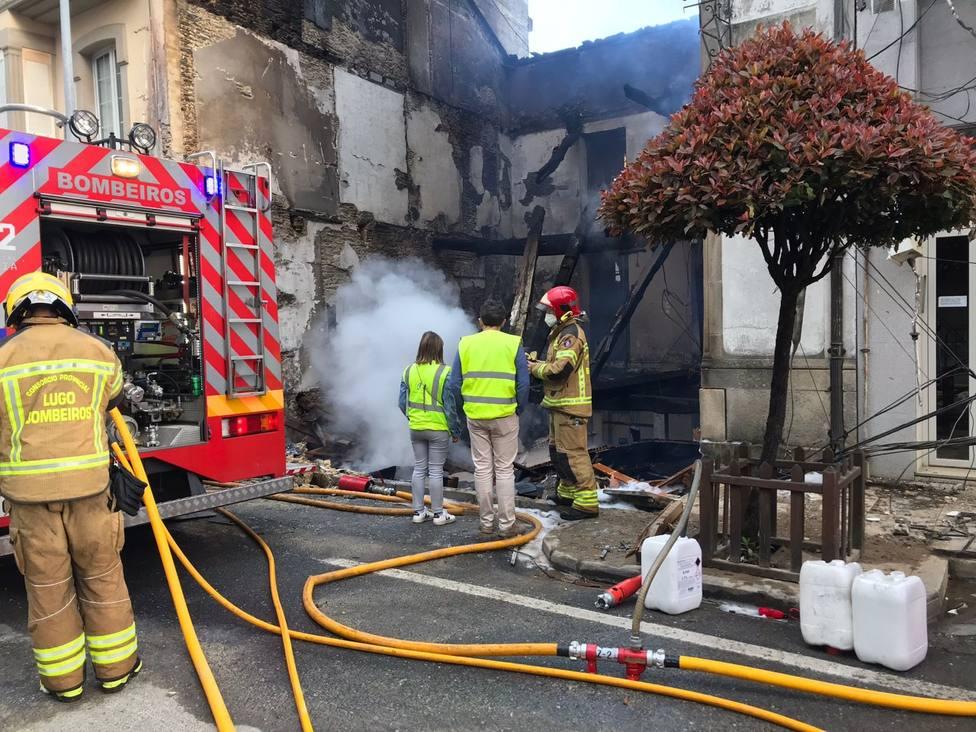 Así quedó el inmueble afectado por el incendio de Vilalba