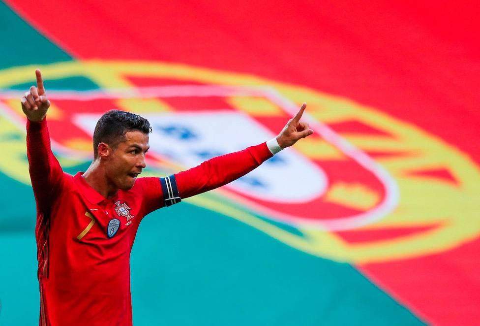 Cristiano Ronaldo celebra su último gol con Portugal (EFE)