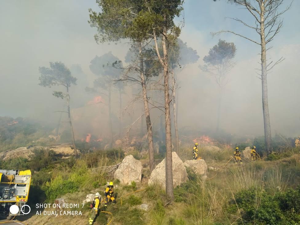 Incendio en es Coll de sa Gramola