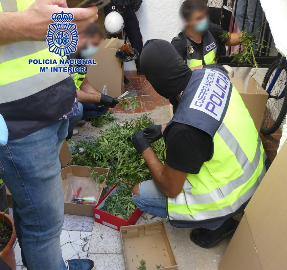 Arrestados tres integrantes de un clan dedicado al narcotráfico en el Barrio del Castillo de Puerto Lumbreras