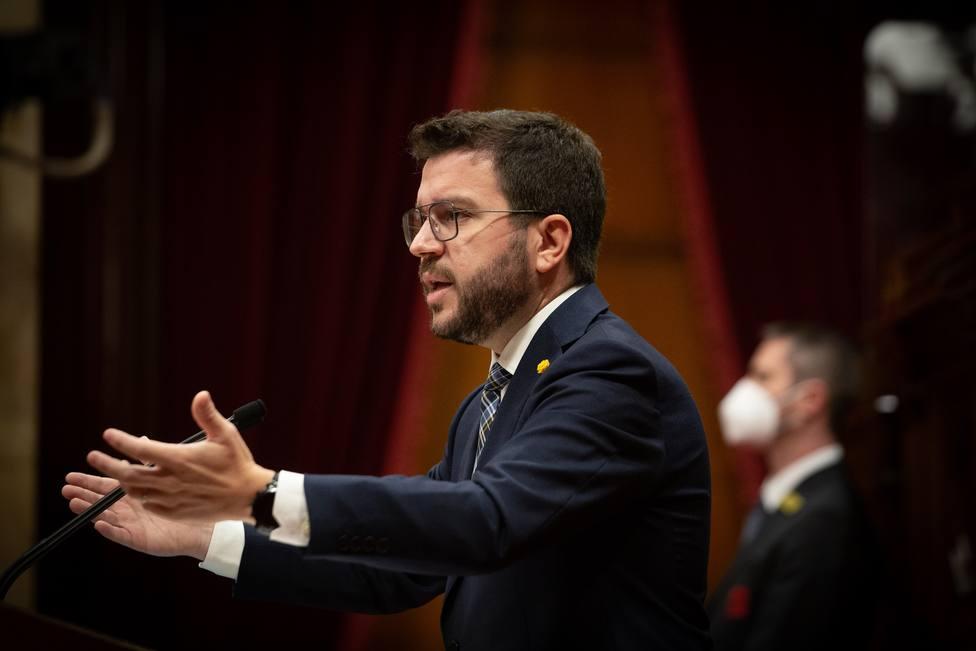 Aragonès está convencido de que las negociaciones con el Gobierno terminarán con una Cataluña independiente