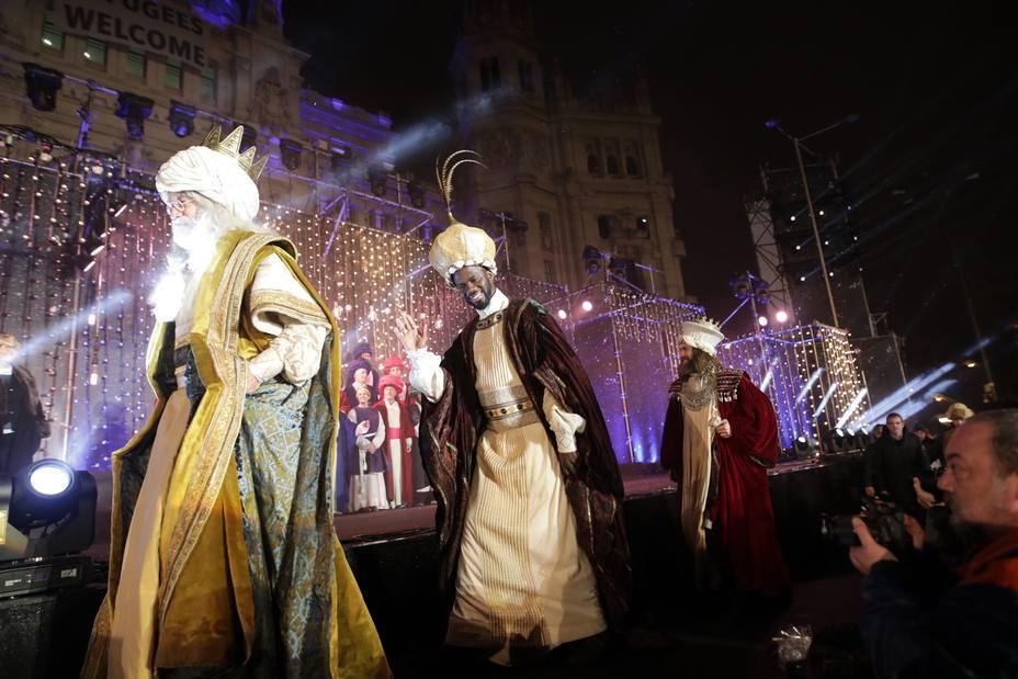 Los Reyes Magos en la cablagata del año apsado en Madrid