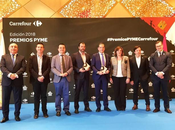 Embutidos España y quesos Vega Sotuelamos ganan los premios PYME CARREFOUR Castilla La Mancha