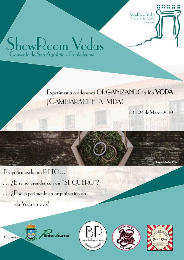 Cartel del ShowRoom de Pontedeume - FOTO: Concello de Pontedeume