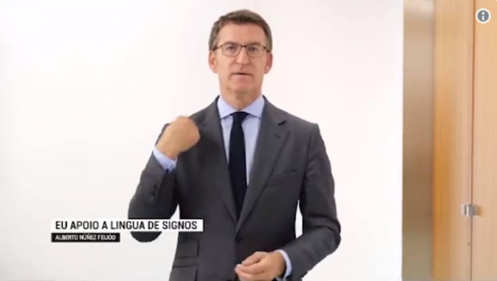 Feijóo se suma al dia internacional de la lengua de signos
