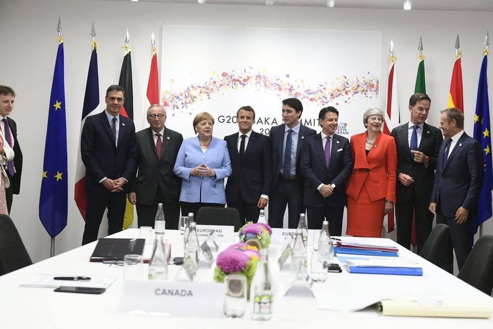 Pedro Sánchez mantiene una reunión de coordinación con los líderes europeos antes de la cumbre del G20