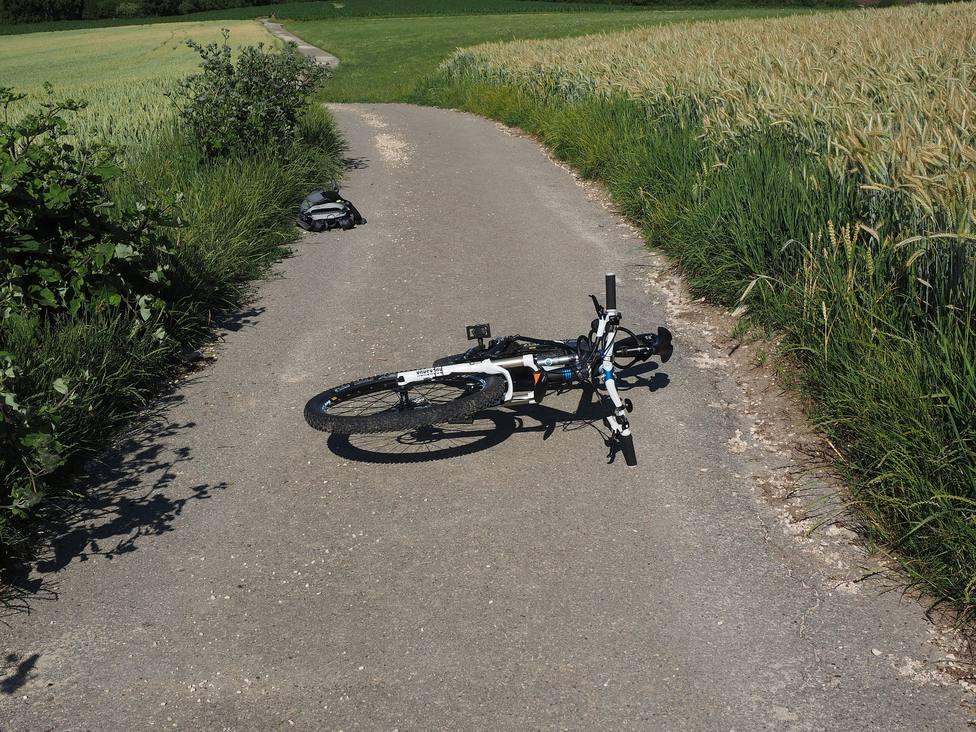Falso accidente de bicicleta