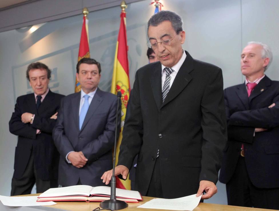 Mena Merchán, durante su toma de posesión como delegado de la Junta en Salamanca en 2011