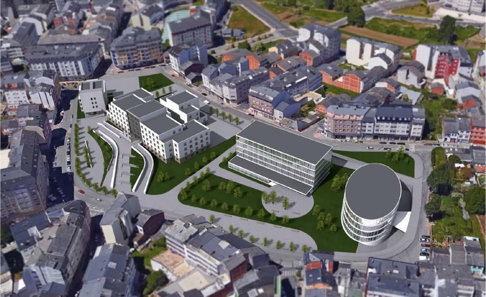 Comienza la última fase de demolición del viejo Hospital Xeral
