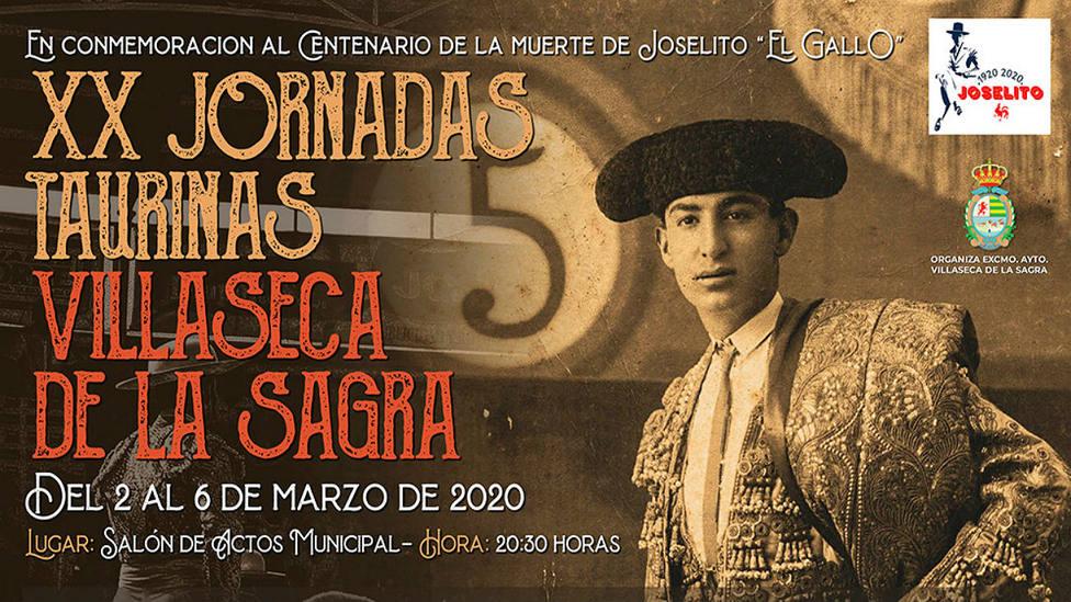 Cartel anunciador de las XX Jornadas Taurinas de Villaseca de la Sagra