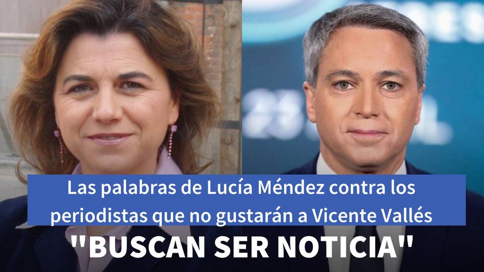 Las palabras de Lucía Méndez contra los periodistas tras atacar a Iglesias que no gustarán a Vicente Vallés