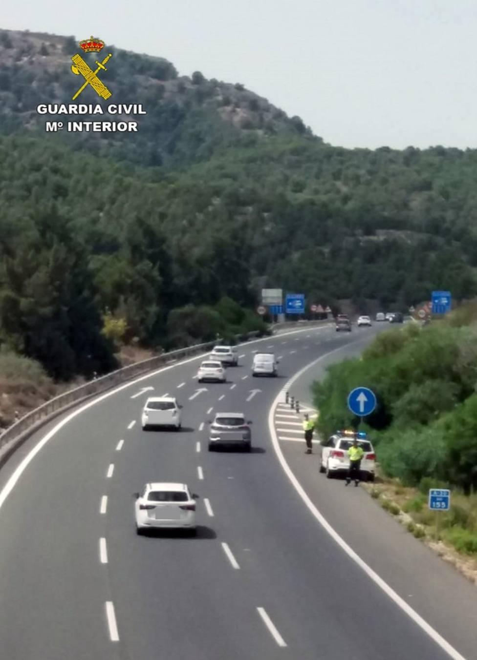 La Guardia Civil investiga a un conductor que circulaba a más del doble de la velocidad máxima permitida