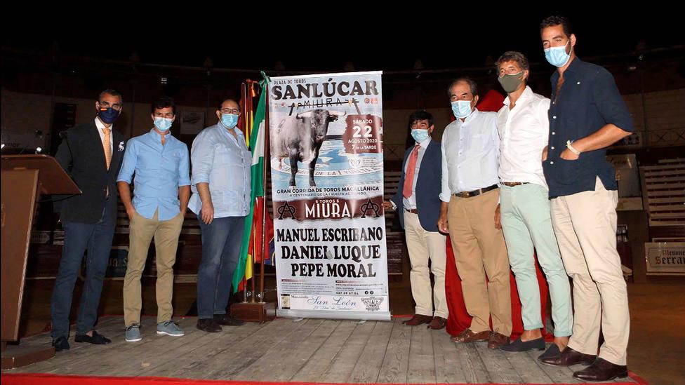 Acto de presentación de la II Corrida de Toros Magallánica de Sanlúcar de Barrameda