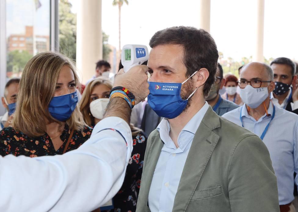 El presidente del Partido Popular, Pablo Casado,
