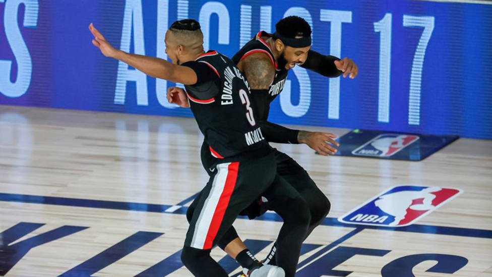 Portland gana la repesca y se cita en playoffs con los Lakers