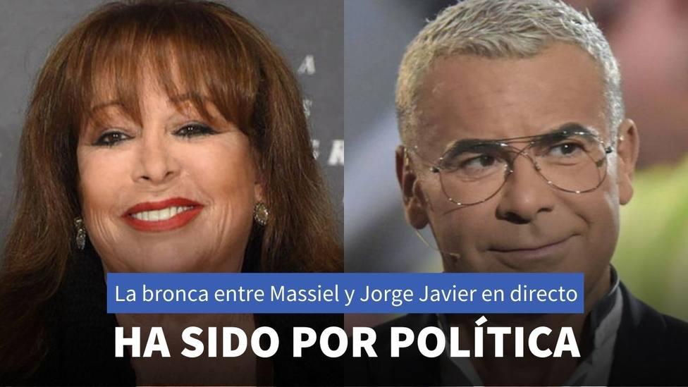 Jorge Javier Vázquez y Massiel discuten por Irene Montero en Sálvame Deluxe