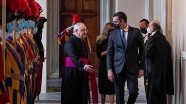 Pedro Sanchéz en el Vaticano