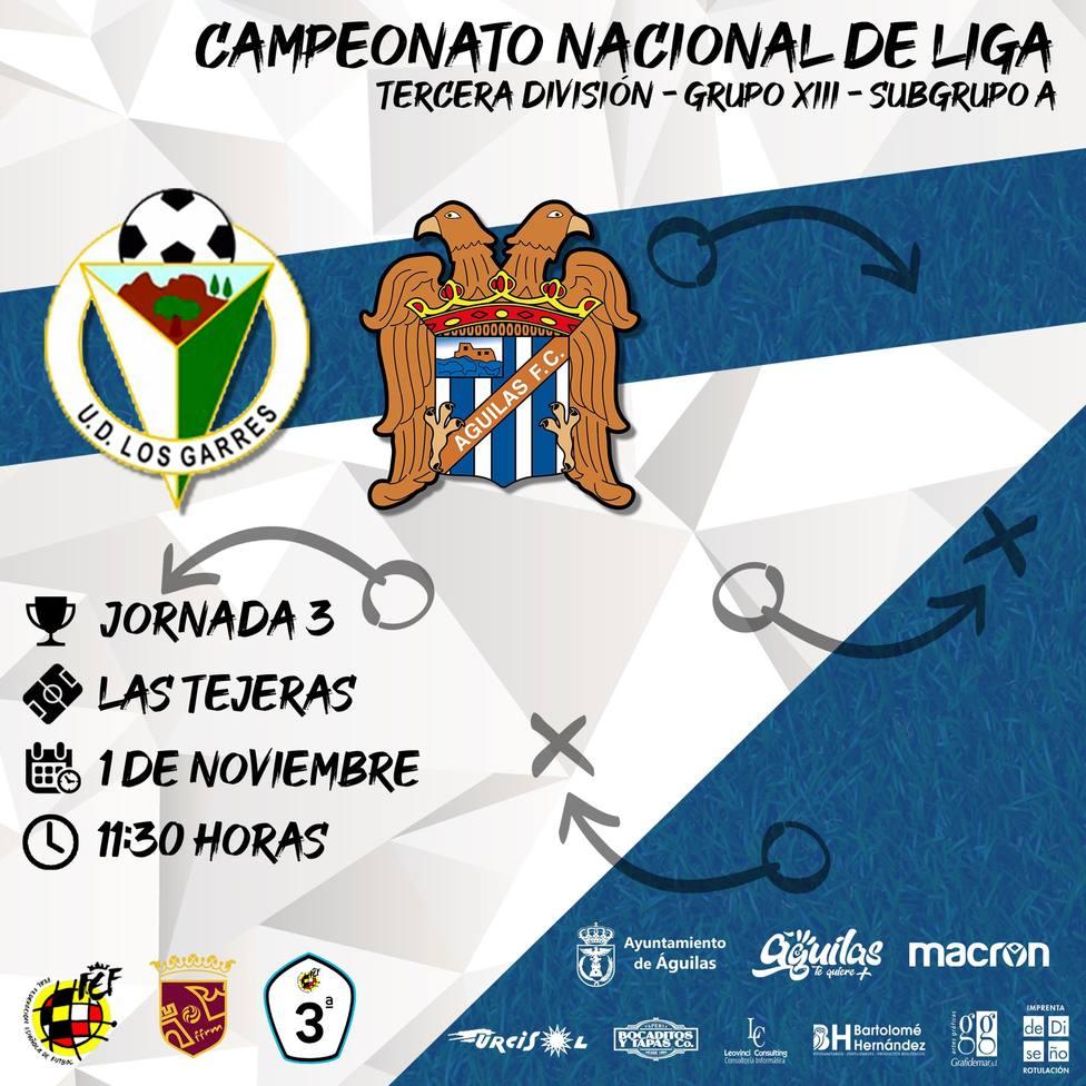 UD Los Garres - Águilas FC, 11.30 horas en Las Tejeras