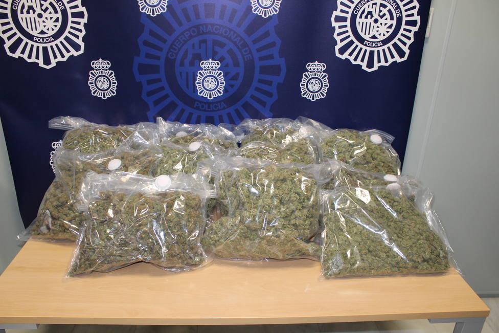 Marihuana intervenida en Motril por la Policía Nacional