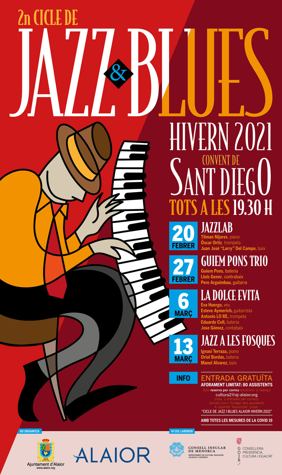 Jazz & Blues por los meses de febrero y marzo en elconvento de San Diego