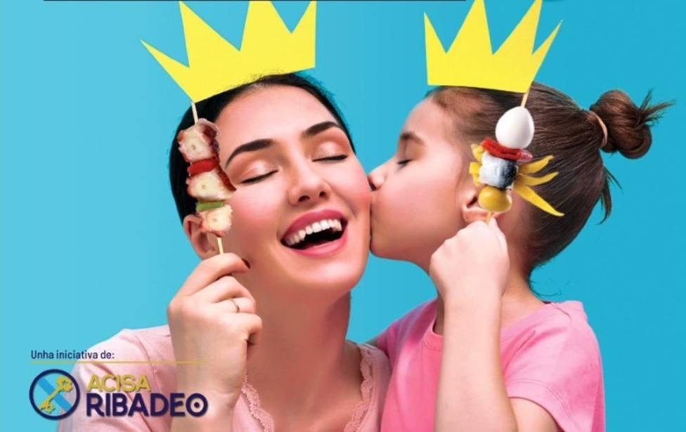 Detalle del cartel de Acisa Ribadeo para la campaña del Día de la Madre