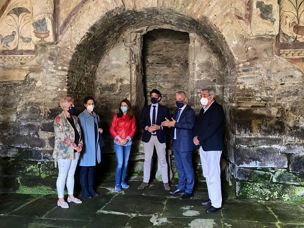 Visita del delegado de la Xunta a Santa Eulalia de Bóveda