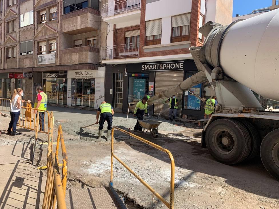 Águilas bonificará a los comercios y establecimientos de hostelería de las calles afectadas por las obras