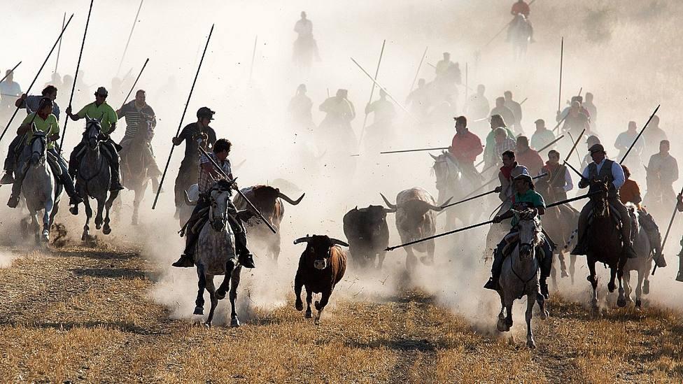 Encierro de Cuéllar (Segovia), uno de los más representativos de la región castellano-leonesa