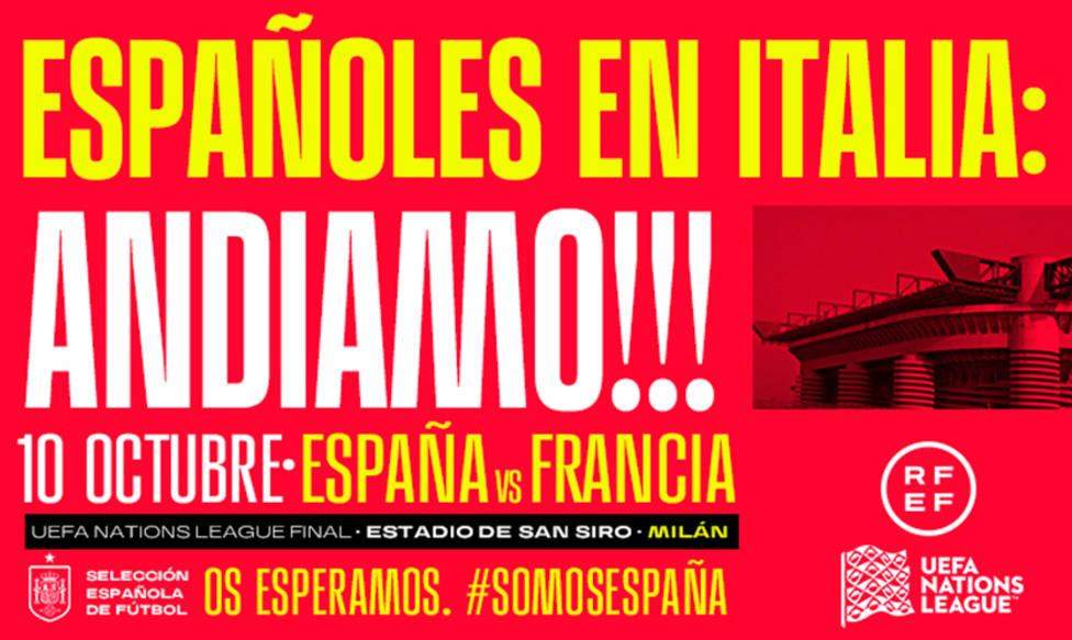 La Selección convoca a los españoles que estén en Italia para la final de la Nations League