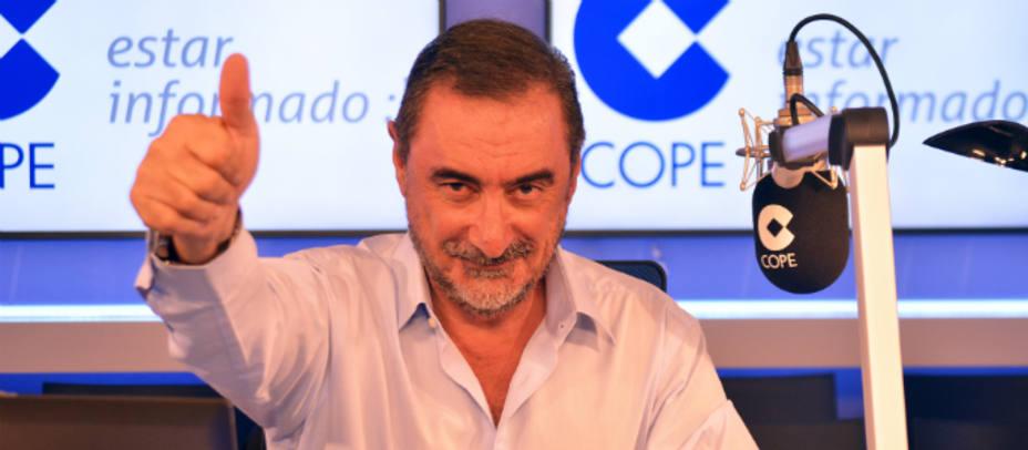 Carlos Herrera celebra los datos del EGM. Cele Díaz
