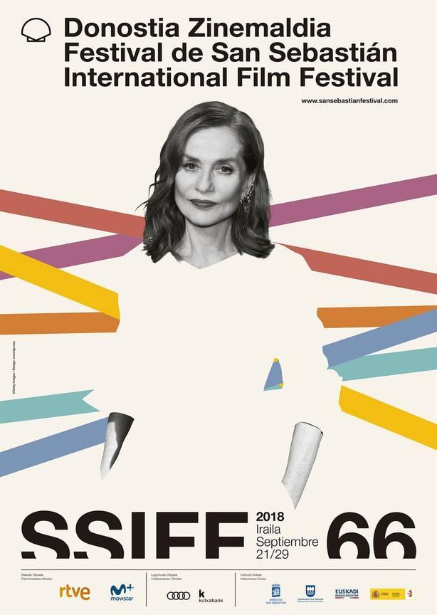 Isabelle Huppert protagoniza el cartel oficial del Festival de San Sebastián