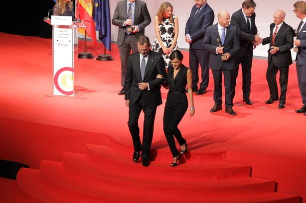 Los Reyes Felipe VI y Letizia presiden la Noche de la Economía Valenciana en Valencia